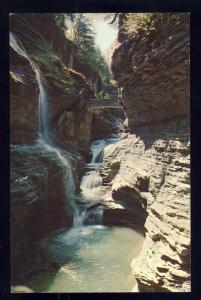 Pretty Watkins Glen, New York/NY Postcard, Rainbow Falls