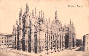 Italy Old Vintage Antique Post Card Milano Duomo Unused