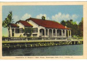 SHAWINIGAN FALLS, Quebec, Canada, 1900-1910's; Bath House, Vespasienne Et Bai...