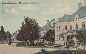 Ohio Sandusky Cottages Looking East Soldiers Home 1910