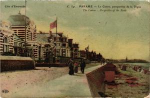 CPA Coté d'Emeraude - PARAMÉ - Le Casino perspective de la Digue (298261)