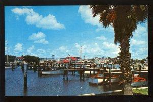 Daytona Beach, Florida/FL Postcard, View Of Yacht Basin