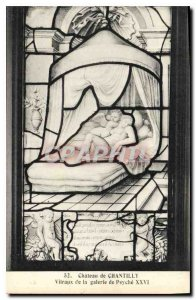 Old Postcard Chateau de Chantilly Stained Glass Gallery Psyche XXVI