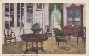 Virginia Mount Vernon Washington's Library