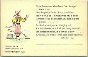 Vintage Colorado Postcard VISIT COLORADO America's Roof Garden!  Hand-Colored