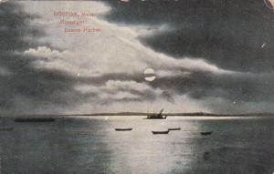 Moonlight, Boston Harbor, Boston, Massachusetts, PU-1910