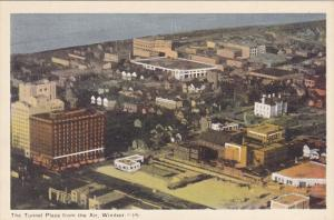 The Tunnel Plaza From The Air, WINDSOR, Ontario, Canada, 1910-1920s