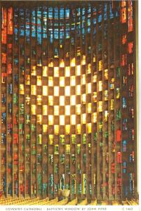 UK, Coventry Cathedral, Baptistry Window by John Piper, unused Postcard