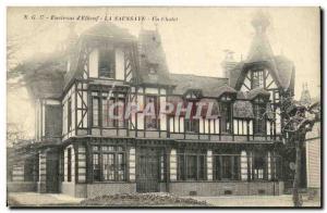 Old Postcard Elbeuf Surroundings of La Saussaye A Chalet