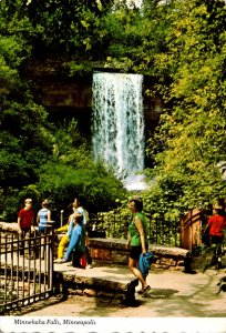 Minnesota Minneapolis Minnehaha Falls 1975