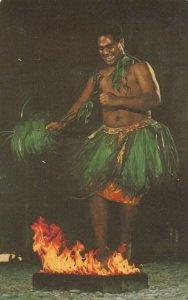 Samoan Fire Dancer, Hawaii , 1973 ; Polynesian Cultural Center