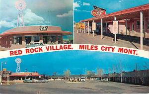 Red Rock Village Motel Etc. Miles City Montana MT Pre-zip code Chrome