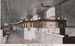 Iowa Des Moines Valley National Bank Interior 1909