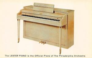 Philadelphia PA Lester Betsy Ross Model 142 Spinet Console Piano Postcard