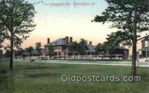 Post Hospital, Fort Ethan Allen, VT, USA Postcard Post Cards Old Vintage Anti...