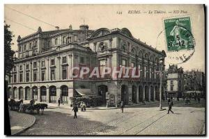 Postcard Old Theater Reims