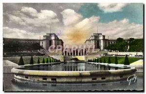 Modern Postcard Paris And Its Wonders Palace De Chaillot seen gardens