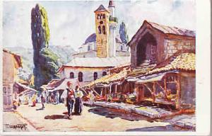 Sarajevo - Street Scene - T. Chvrakitch Artist  #4