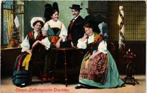 CPA  Elsass-Lothringische Trachten - Types - Folklore  (481267)