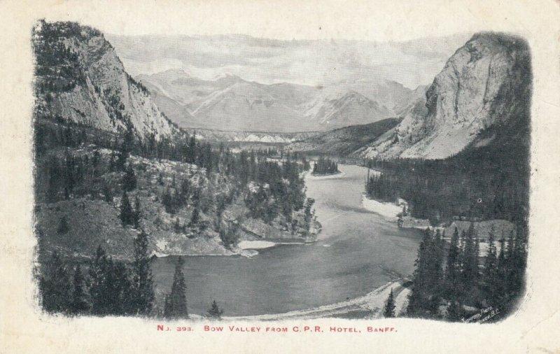 BANFF , Alberta , Canada , 1900-10s ; Bow Valley from C. P. Railway Hotel