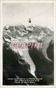 Modern Postcard Chamonix Teleferique the Brevent Plan Praz and the Mont Blanc...