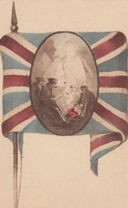 UK flag and soldiers , 1914-18