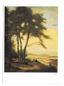 Lookout Auslug Hermann Gradl Painting Hanfstaengl Nr326 Germany 4X6 Art Postcard