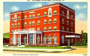 VA - Wytheville. The George Wythe Hotel
