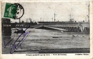 CPA PARIS INONDE Pont Mirabeau (562216)