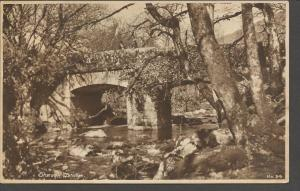 Vintage Sepia Postcard SHAUGH BRIDGE Devon by Battershill's No.24