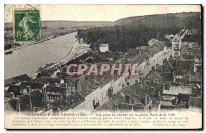 Old Postcard Villeneuve sur Yonne Yonne View from the Bell Tower on the north...