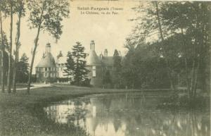 France, Saint Fargeau, Le Chateau, vu du Parc, early 1900...