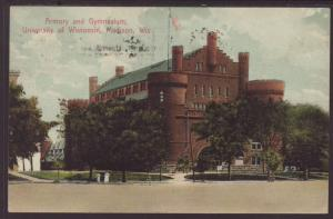 Armory,University of Wisconsin,Madison,WI Postcard