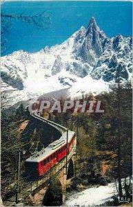 Modern Postcard Chamonix The Railway Montenvers and Aiguille du Dru Funicular