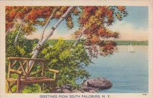 New York Greetings From South Fallsburg 1940