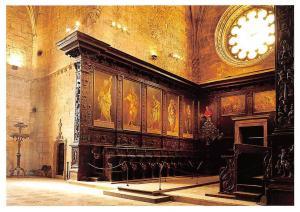 Portugal Mosteiro dos Jeronimos Cadeiral Coro alto da Igreja Desenho de Diogo