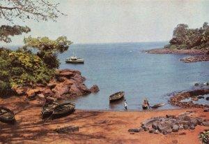 Vintage Postcard, Kent Fishing Village, Sierra Leone, Africa 80W