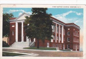 First Baptist Church , SANFORD , North Carolina , Pu-1929