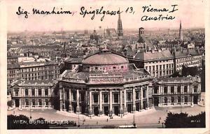 Wien Austria Burgtheater Wien Burgtheater