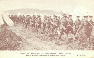 Canada WWI Military Infantry Valcartier Camp C-1916 Postcard Quebec 7421