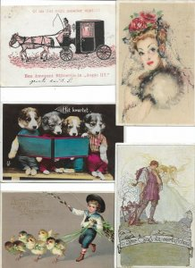 Beautiful Artist Signed Theme Postcard Lot of 10 01.14
