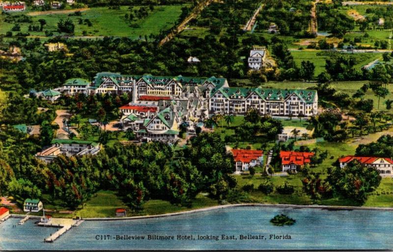 Florida Belleair Belleview Biltmore Hotel Looking East 1954