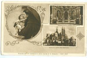 Italy, Ricordo del VII Centenario della morte di S. Antonio, 1931 used Postcard