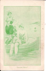 Two Beautiful Women in Swimsuits, Seaside Belles, ca, 1900, PMC, Sexy Girls