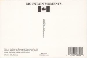 Chateau Whistler Resort Blackcomb Resort BC British Columbia Unused Postcard D46