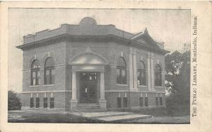 Monticello Indiana c1915 Postcard The Public Library