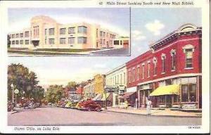 OH Huron Main Street & New High School
