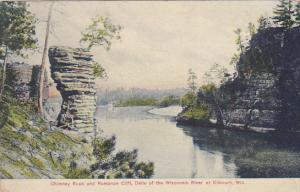 Chimney Rock and Romance Cliff, Delle of the Winsconsin River at Kilbourn, Wi...
