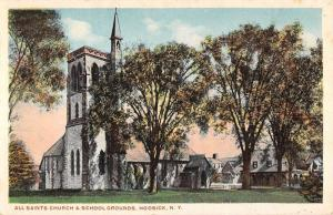 Hoosick New York All Saints Church School Grounds Antique Postcard K59275