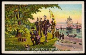 Landing in Jamestown in 1607